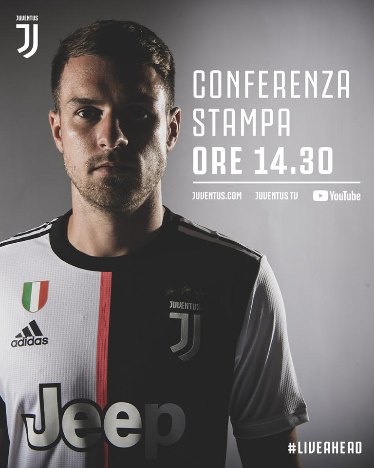 Juventus, conferenza stampa Ramsey: