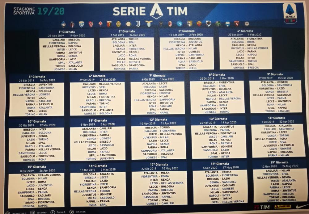 Calendario Iuve.Calendario Serie A Subito Juve Napoli L Arena Del Calcio